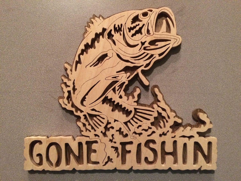 Gone Fishin by RobinsonScrollcrafts on Etsy