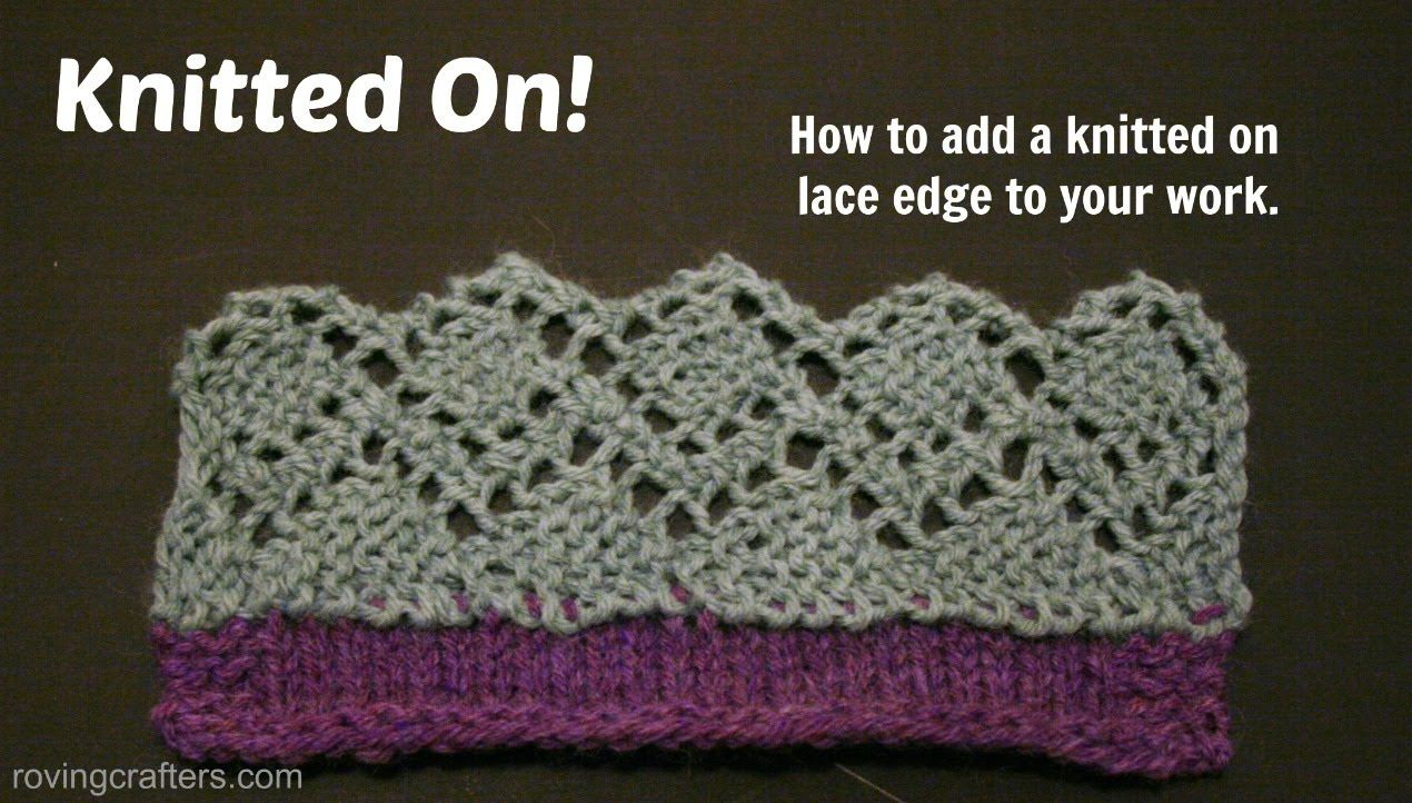 Knitting a Lace Border   Örgü & Knitting   Pinterest   Chrochet ...