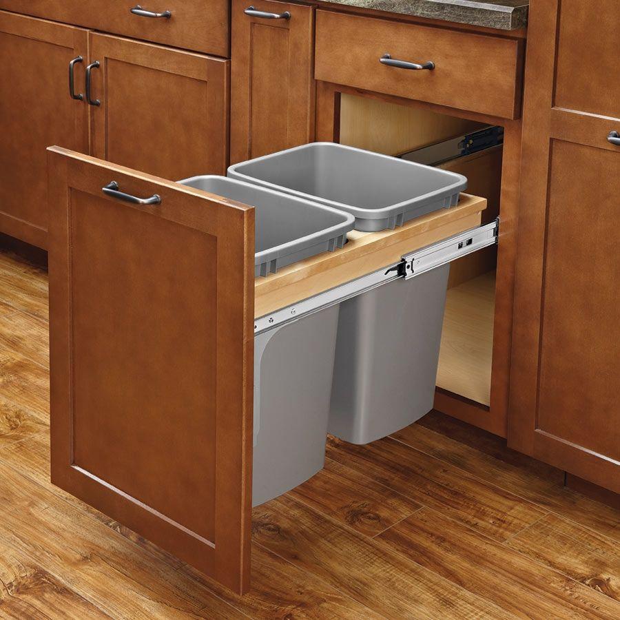 Rev-A-Shelf Double Trash Pullout 27 Quart W/ Soft-Close -