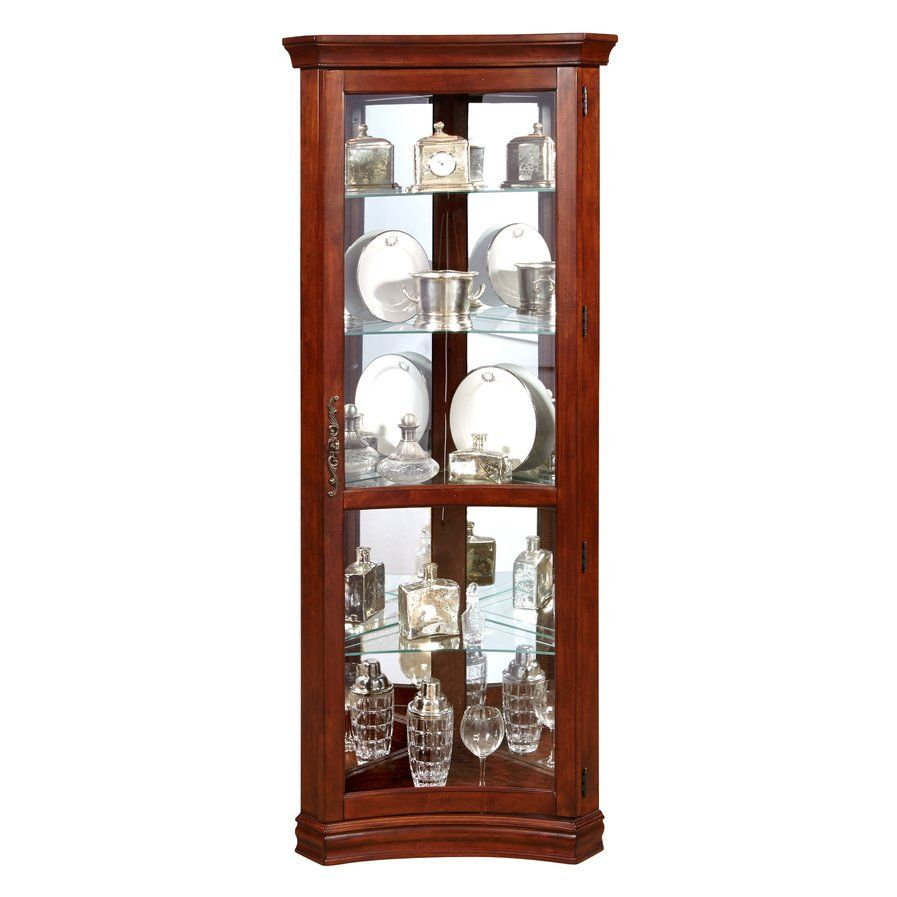 Nannie Lighted Corner Curio Cabinet Curio Cabinets Cabinet
