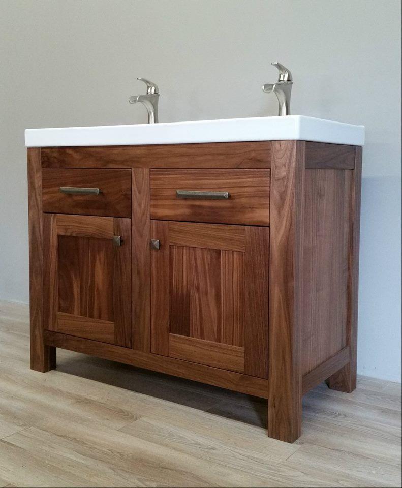 Solid Walnut Bathroom Vanity Bathroom Vanity Decor Custom Bathroom Vanity Vanity Decor