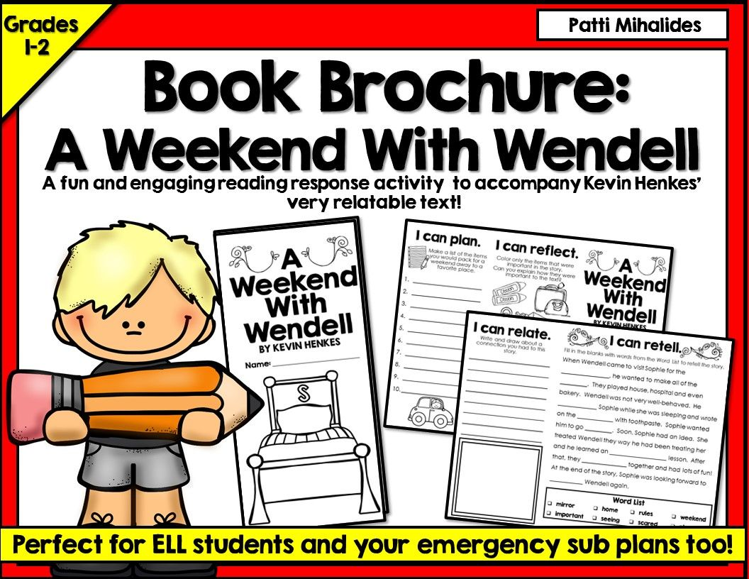 A Weekend With Wendell By Kevin Henkes A Book Brochure