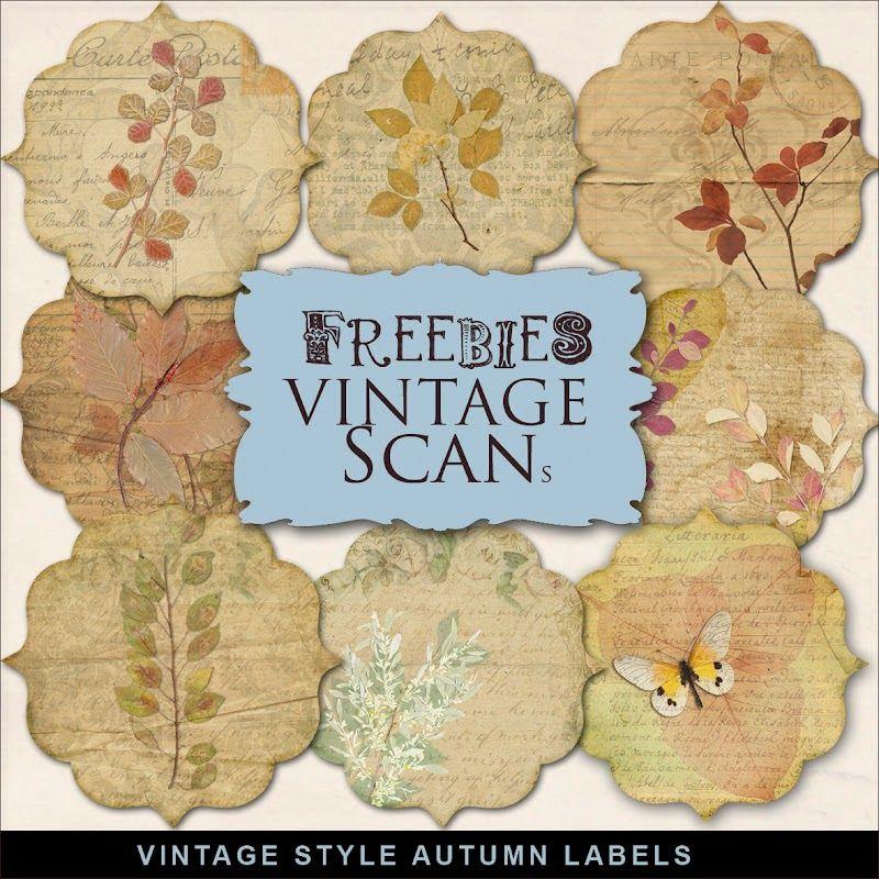 New Freebies Kit Of Autumn Labels Far Far Hill Digital Paper Freebie Vintage Labels Printables Free Free Digital Scrapbooking