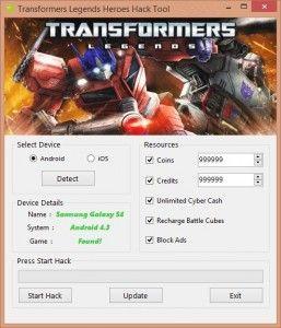 Transformers Legends Hack | No Survey Transformers Legends is a