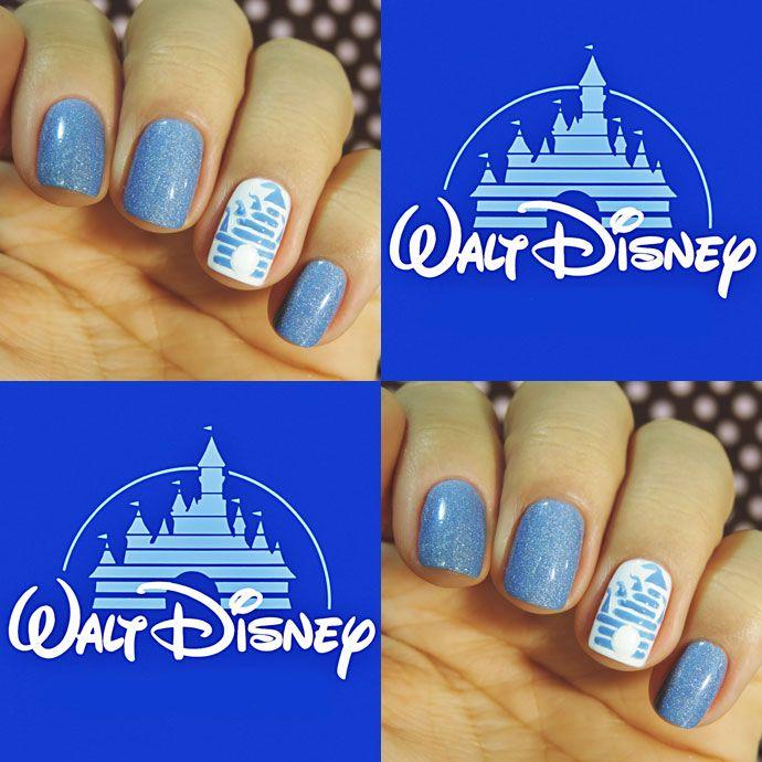 Cinderella Inspired Nail Art: Unhas Inspiradas No Castelo Da Cinderella