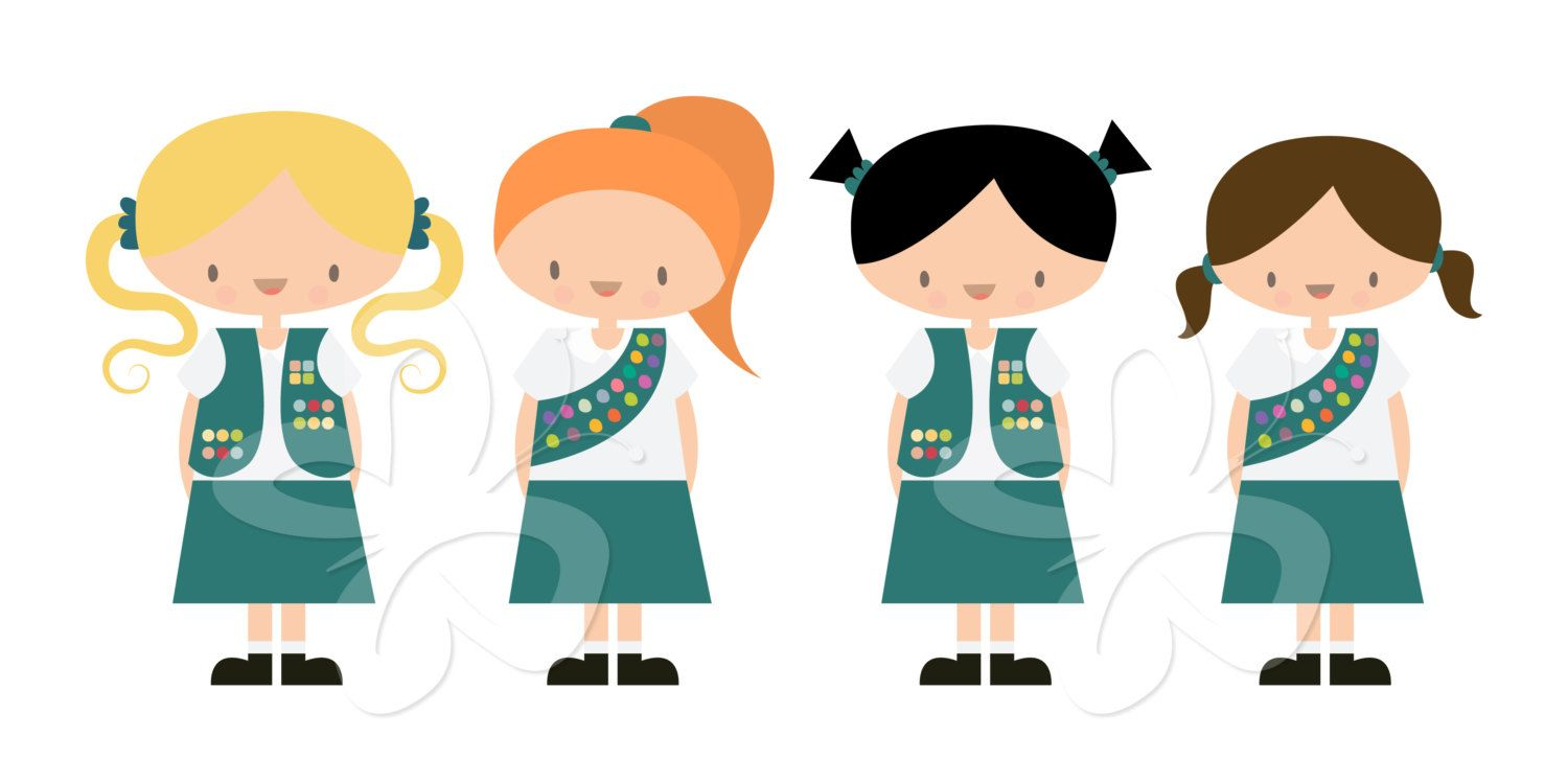 girl scouts clip art clipart set commercial by collectivecreation rh pinterest co uk girl scout clip art free girl scout clip art borders