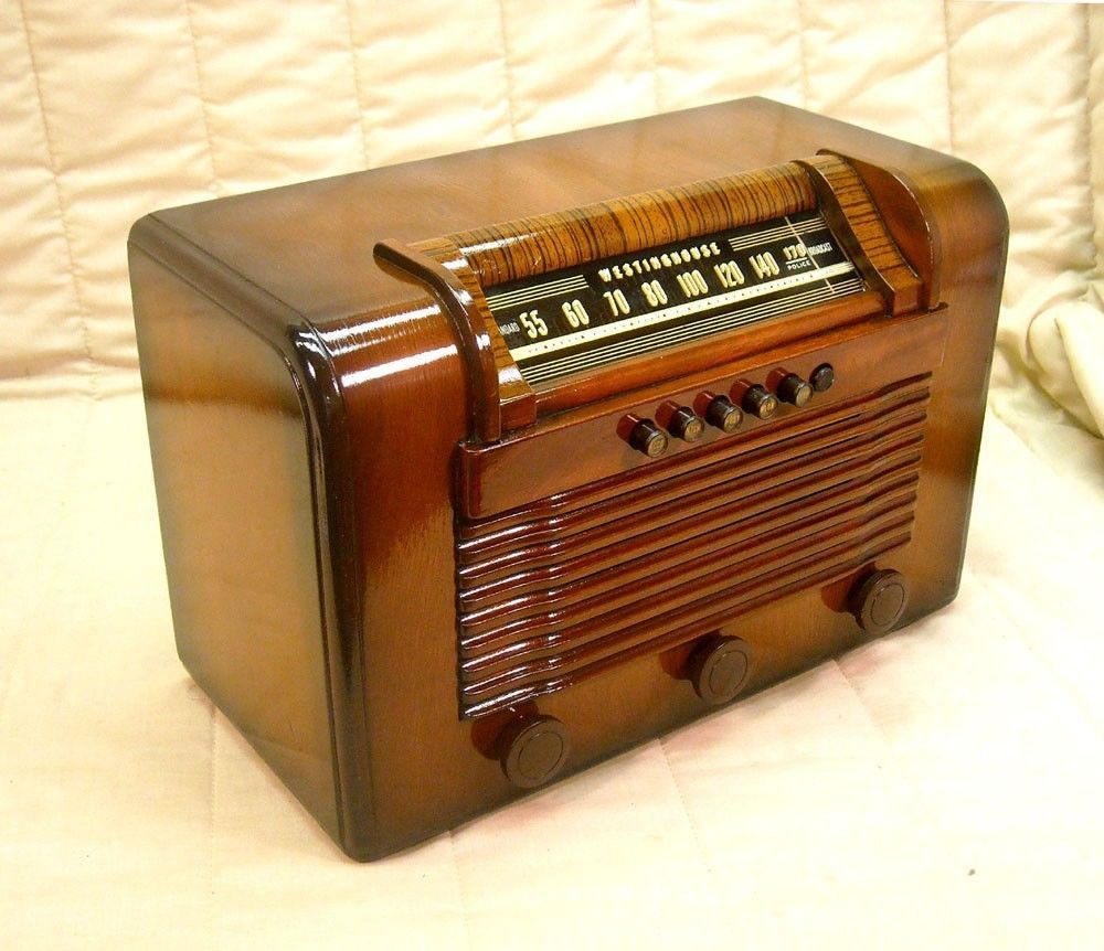 Old antique wood westinghouse vintage tube radio - Westinghouse muebles ...