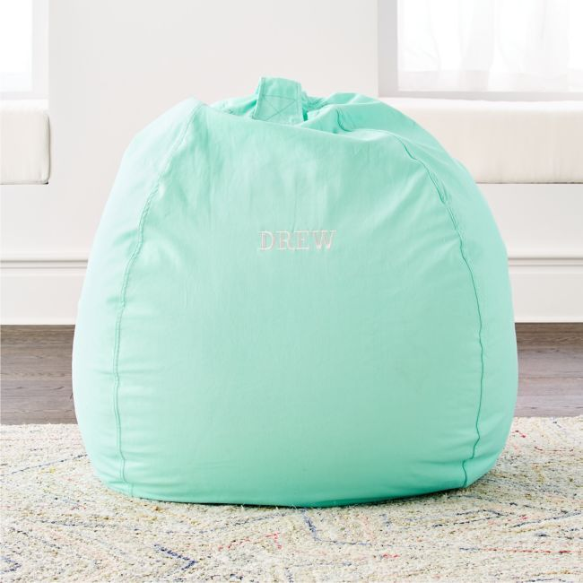 Large Mint Bean Bag Chair Reviews Crate And Barrel In 2020