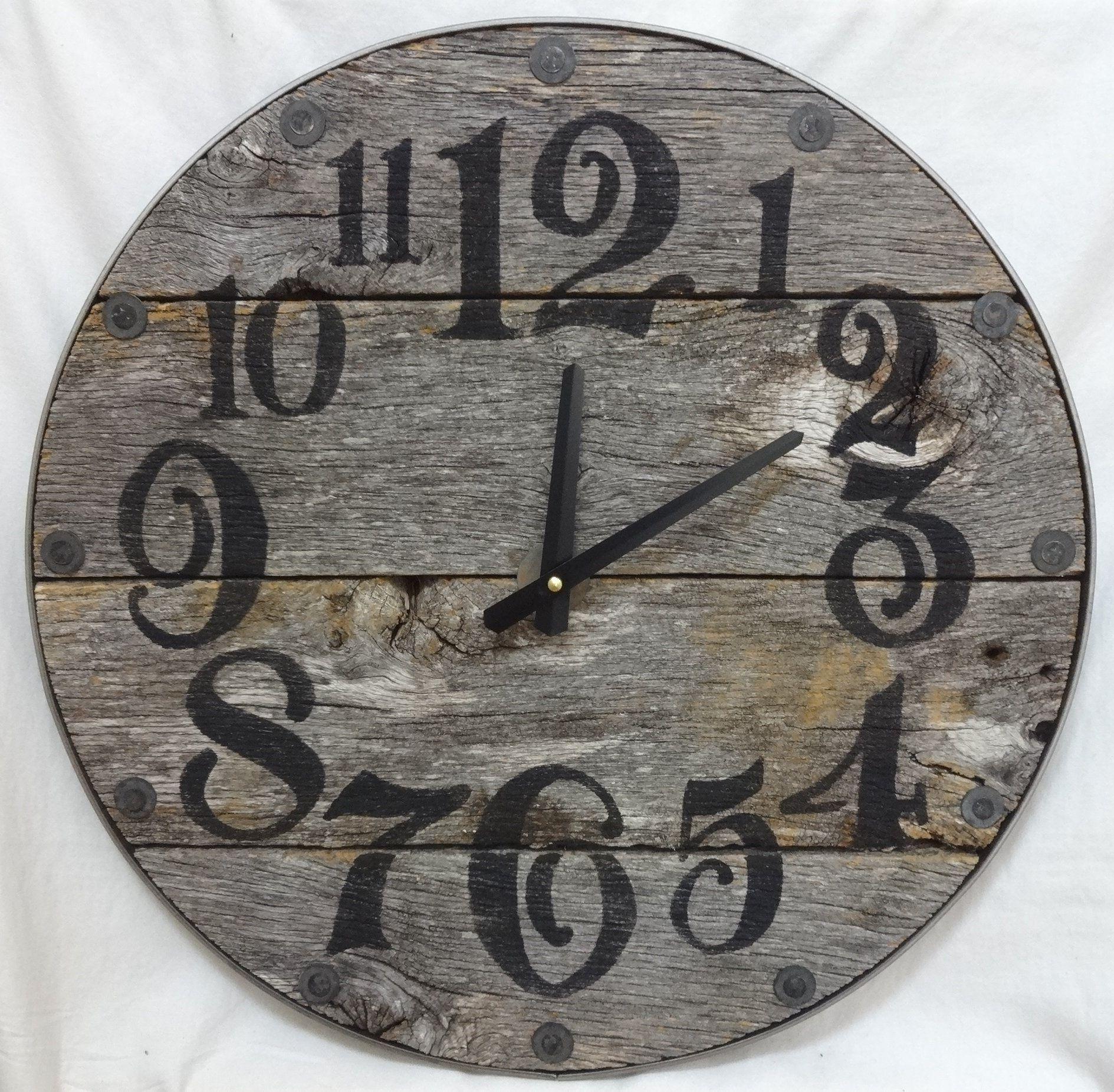 large farmhouse clock wall
