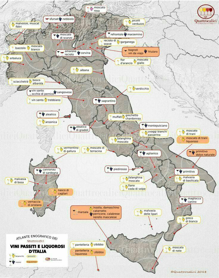 Wine Varietals In Italy In Vino Veritas Rotweinsorten Wein