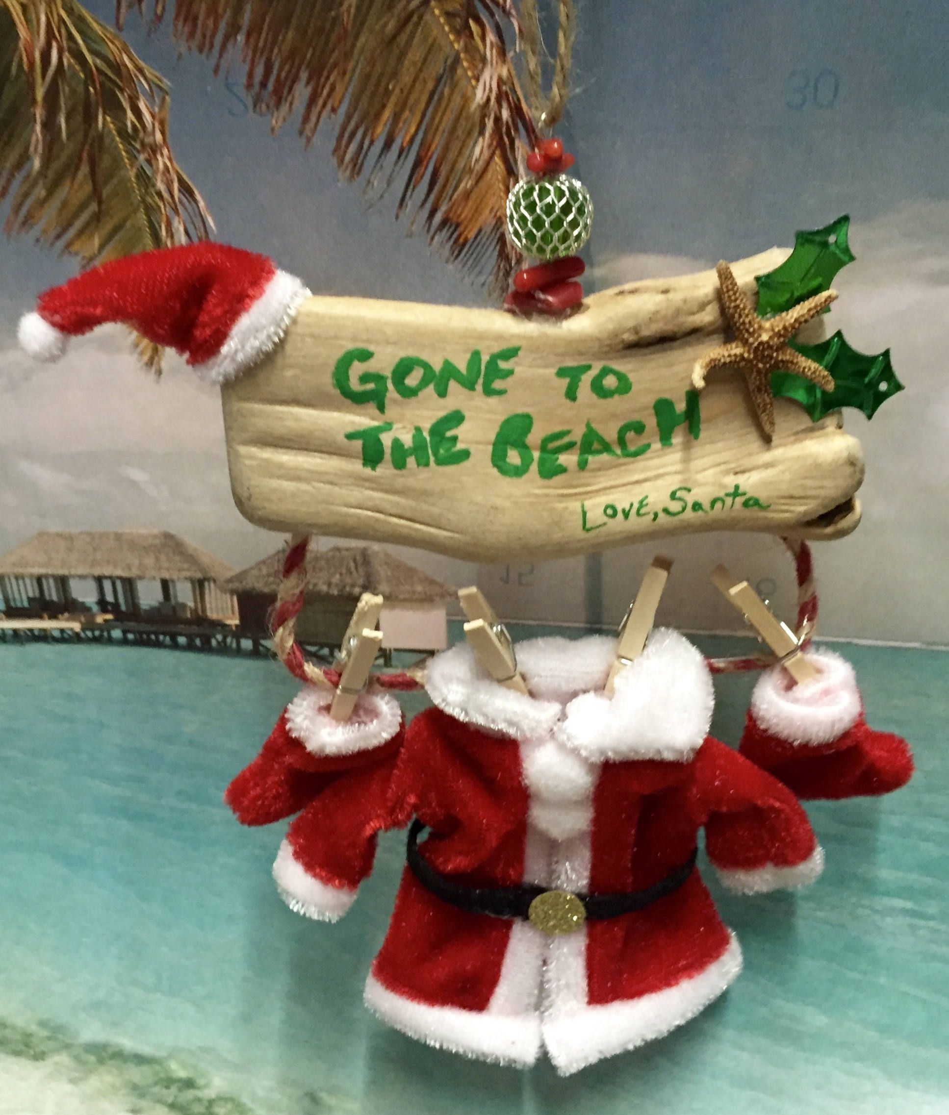 Christmas Ornament Limited Edition Handmade Santa Gone To The