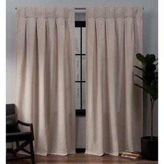 Copper Grove Karnobat Faux Suede Inverted Pleat Button Top Curtain