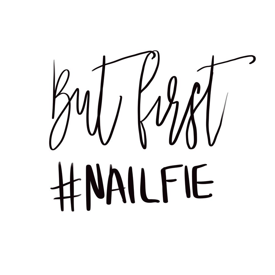 But First #NAILFIE by J.Avery Design Art Print by J.Avery Design - X-Small