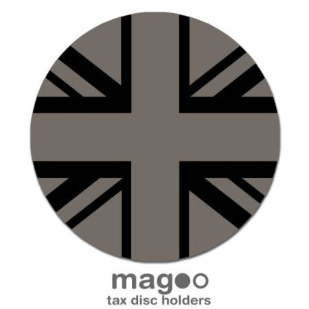 Magoo Velvet Silver Grey Union Jack Flag Mini Cooper Magnetic Tax Disc Holder: Amazon.co.uk: Car & Motorbike