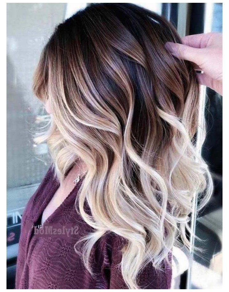 ombre hair color for brunette medium length balaya