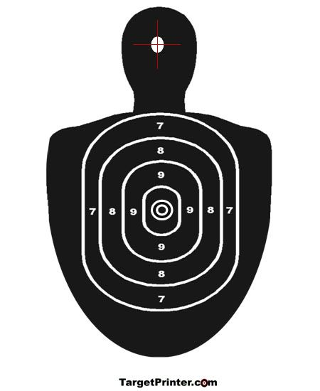 graphic relating to Printable Silhouette Shooting Targets identify Pin upon guns and devices