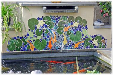 Hand Painted Decorative Ceramic Picture Tiles Mesmerizing Decorative Ceramic Tile Hand Made Tiles In Koi Pond Tiles Inspiration