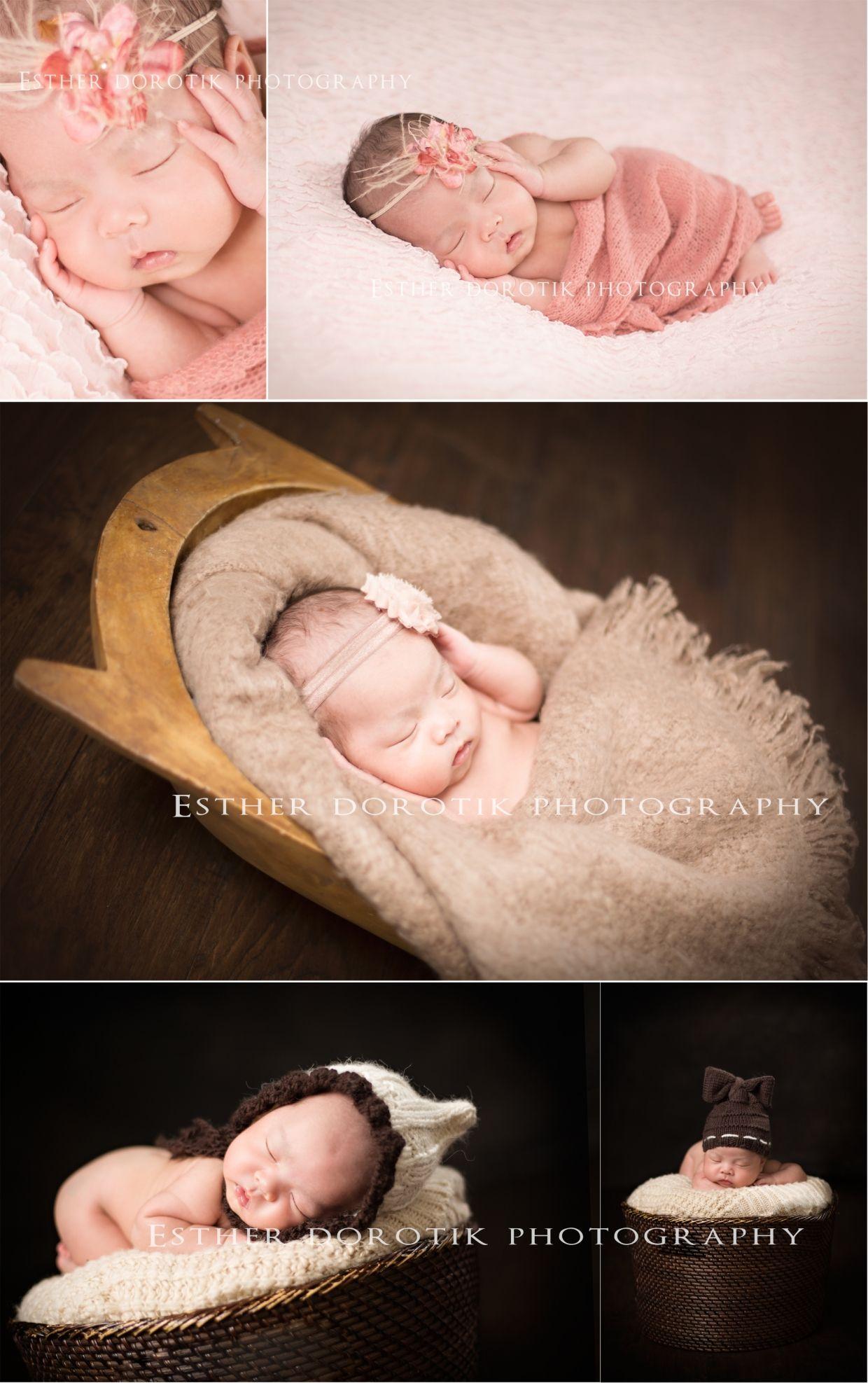 Newborn photography 4 week old studio lighting