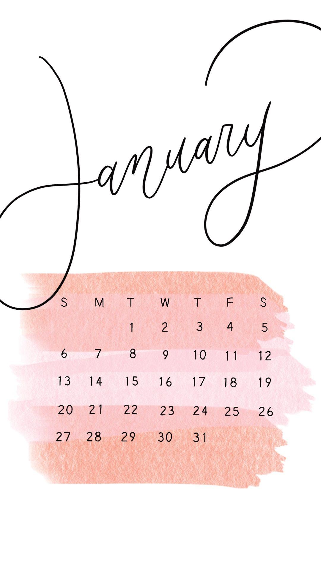 FREE January 2019 Calendar Design Wallpaper Calendar