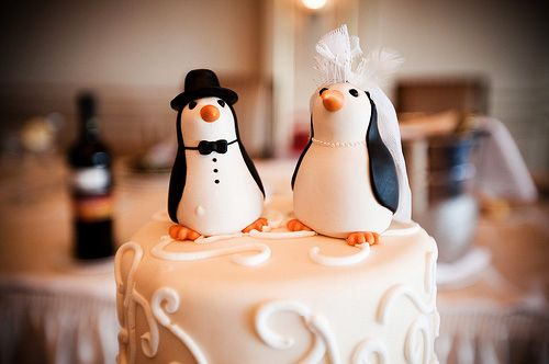I love penguins, and I love cake. This will be the cake topper at my ...