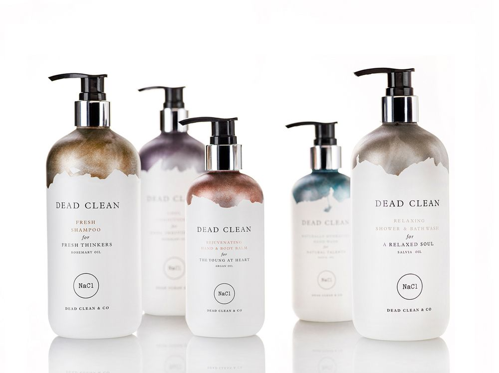 Brand: Dead Clean Product: Skincare range inspired by minerals from the Dead Sea. Agency - Koniak design