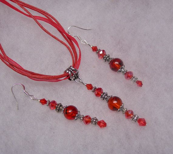 Valentine Red Swarovski Crystal Earrings and by paulandninascrafts, $12.99