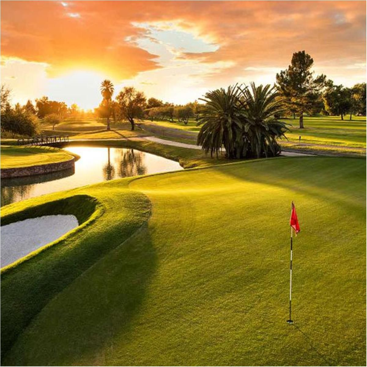 Wigwam Golf Coaster Beautiful Sunset Photo Layers Photo