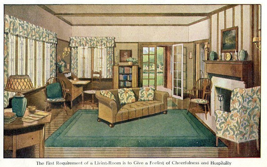 Living Room 1912 Vintage Living Room 1920s Home Decor House Interior