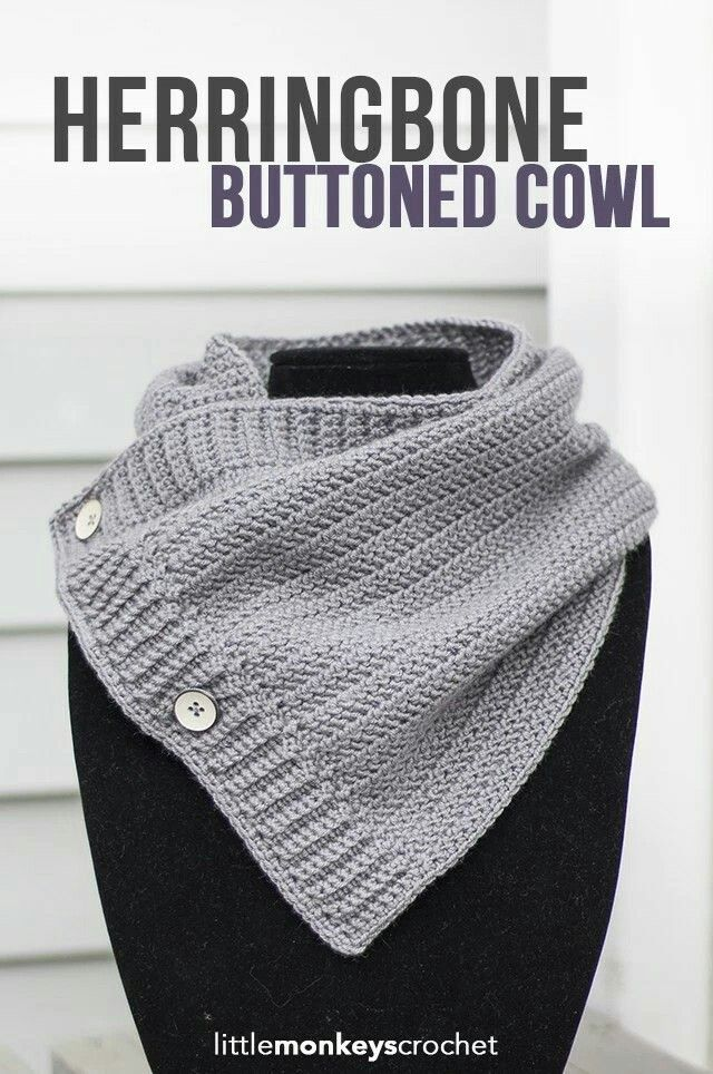 Buttoned cowl | Crocheting | Pinterest | Crochet, Crochet scarves ...