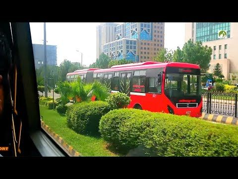 Rawalpindi To Islamabad Metro Bus City Tour In 30 Rupees Traveling BRTS Pakistan - YouTube