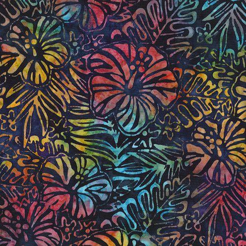 Robert Kaufman Artisan Batiks Totally Tropical Hibiscus