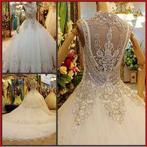 YZ bandage princess big train wedding dress IV