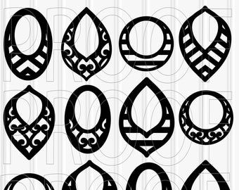 SVG Files set of 12 cutting files SVG/PNG/jpg Teardrop svg tear drop svg leaf svg commercial use approved! silhouette
