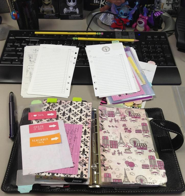 Didn't Think I'd Ever, But I'm Rearranging My Filofax   Properly Made Up