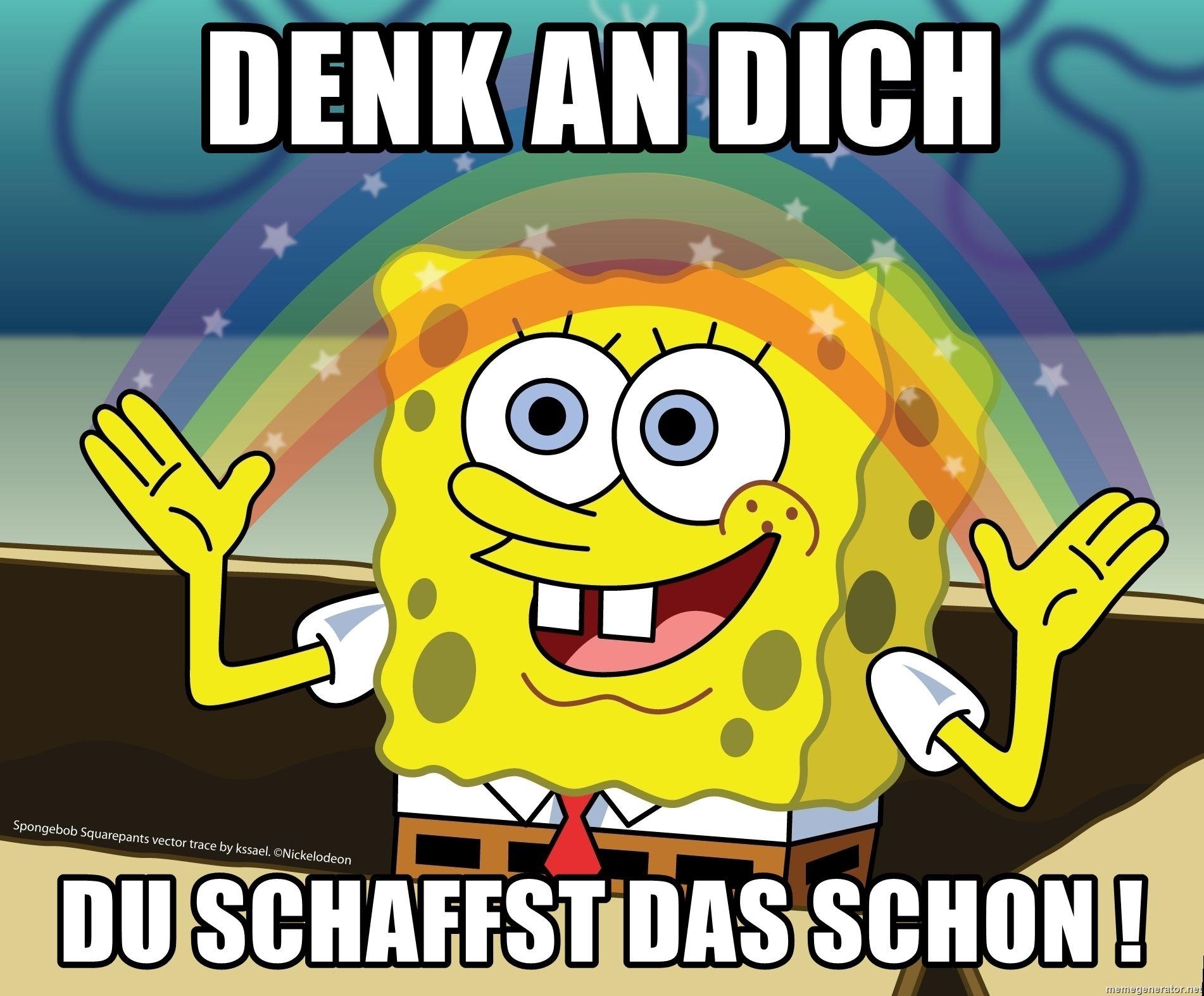 Denk An Dich Du Schaffst Das Schon Spongebob Rainbow Kita