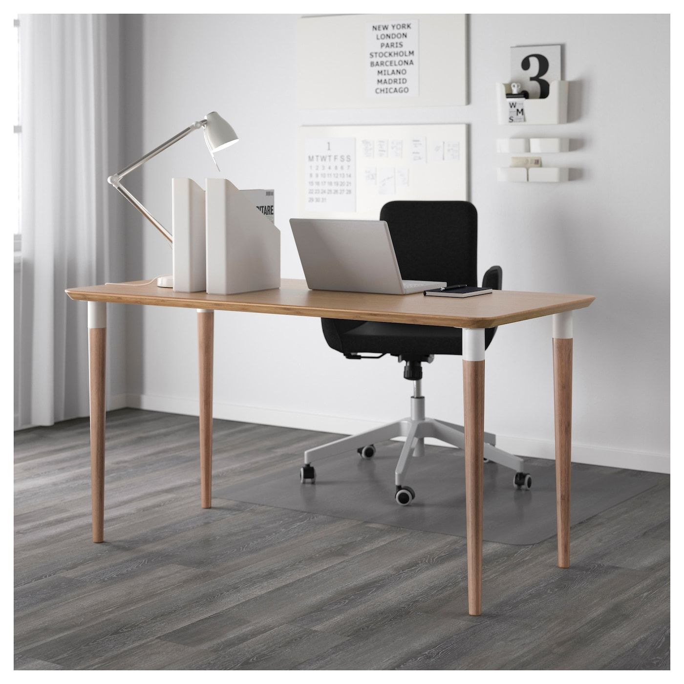 Ikea hilver bamboo tabletop in 2019 furniture hacks ikea table ikea desk desk - Table bureau ikea ...