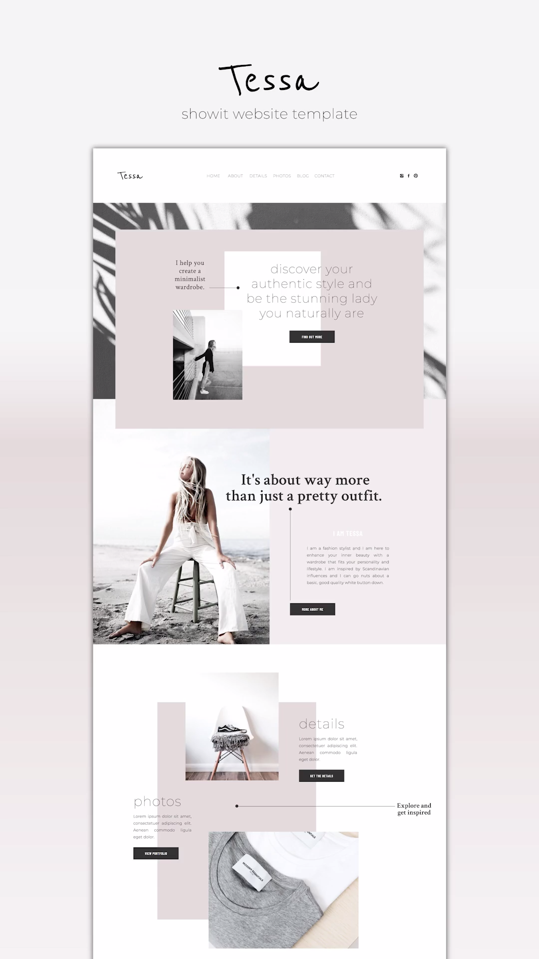 Designer-made Showit Website Template. Quickly launch a highly stylish website for a small budget. #showit #website #template #webdesign #branding #business #creative #professional #minimal #editorial #best #style #modern #love