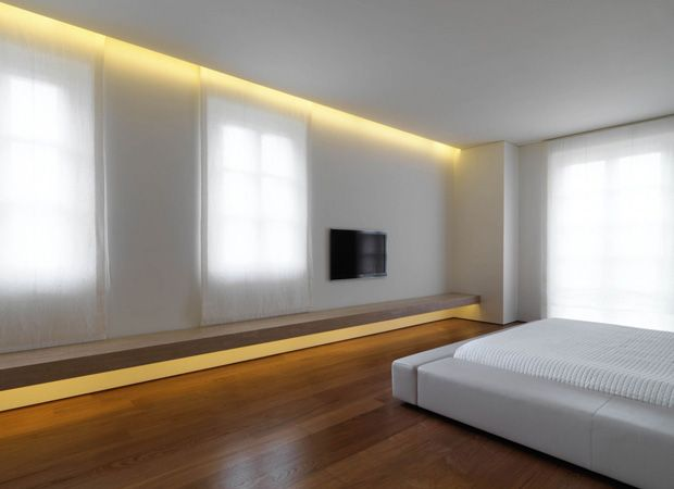 Recessed plaster wall wash lighting system provides continuous recessed plaster wall wash lighting system provides continuous channels of aloadofball Choice Image