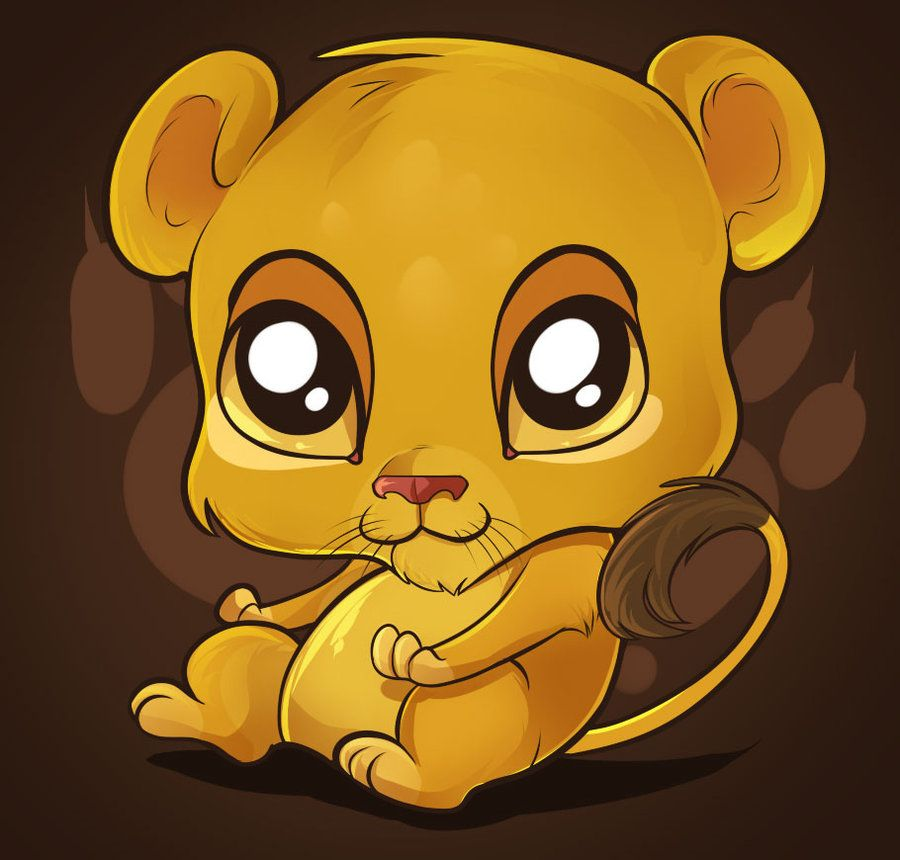 Cute Cartoon Animals with Big Eyes | Cute Lion Tutorial by ...
