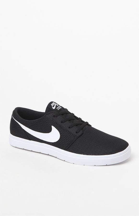 1a3da3d0cacd Nike SB Portmore II Ultralight Black   White Shoes