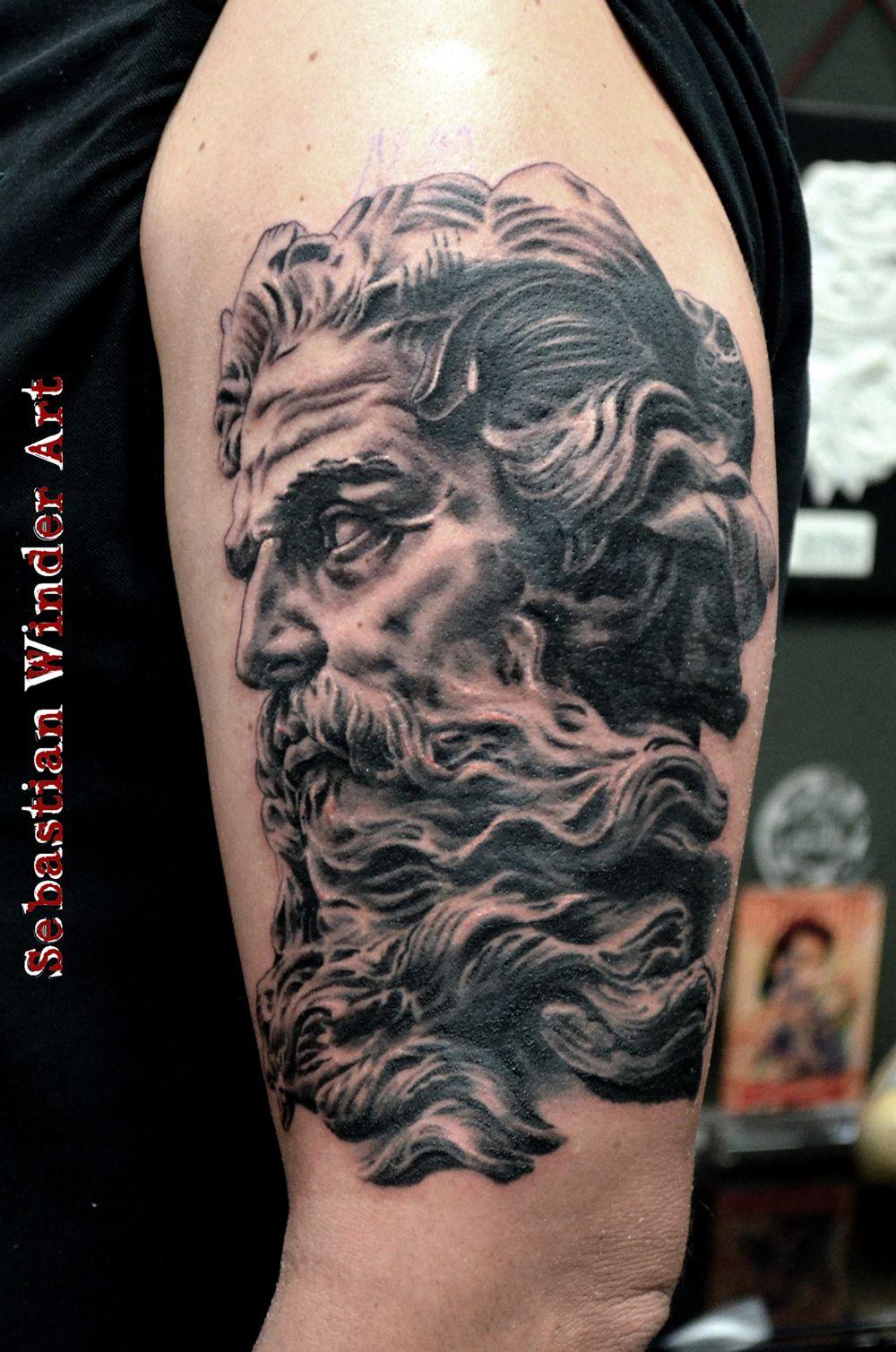 Poseidon Neptune Tattoo done by Sebastian Winder ...