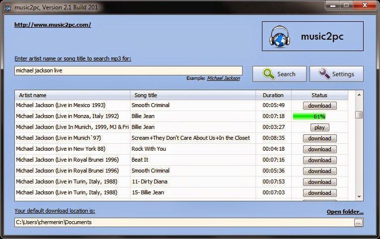 Descargar music2pc 2.19.234 Baja Musica Gratis a tu PC