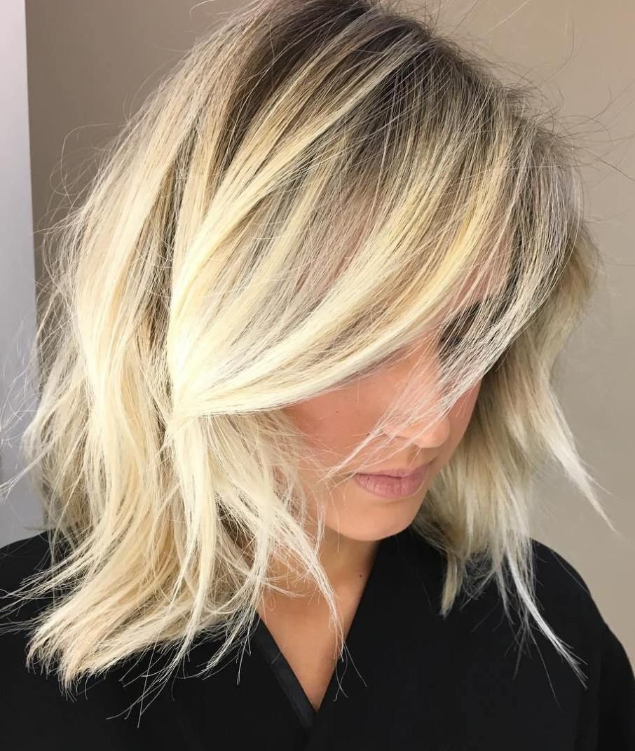 20 Modern Ways To Style A Long Bob With Bangs Choppy Bob Hairstyles Long Layered Bob Hairstyles Edgy Haircuts