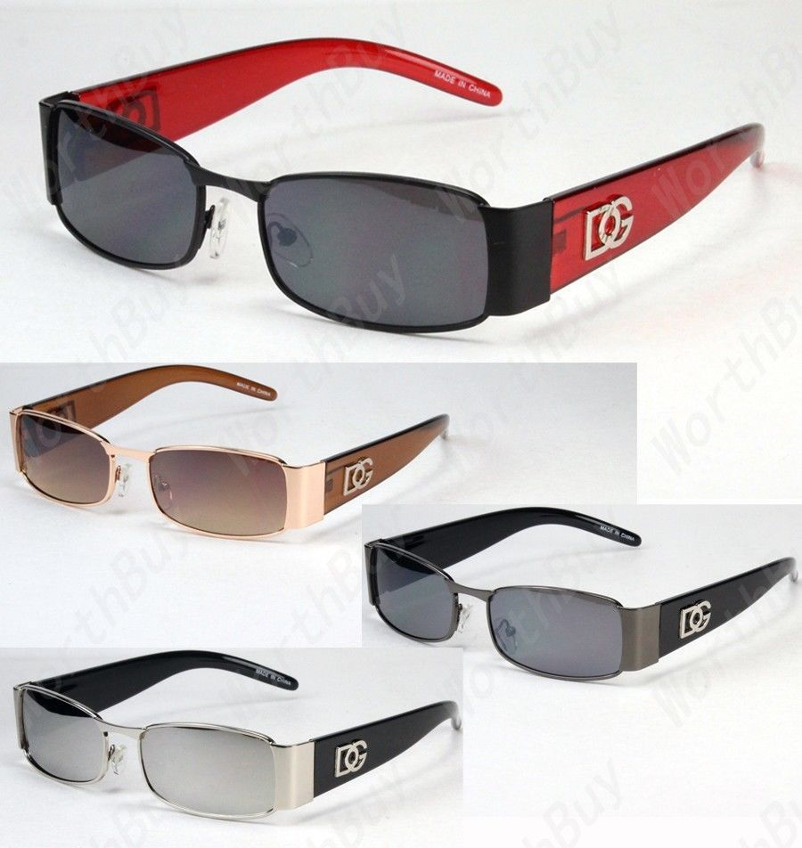 30497a6ad2a2 New DG Mens Womens Rectangular Designer Sunglasses Shades Retro Fashion  Vintage
