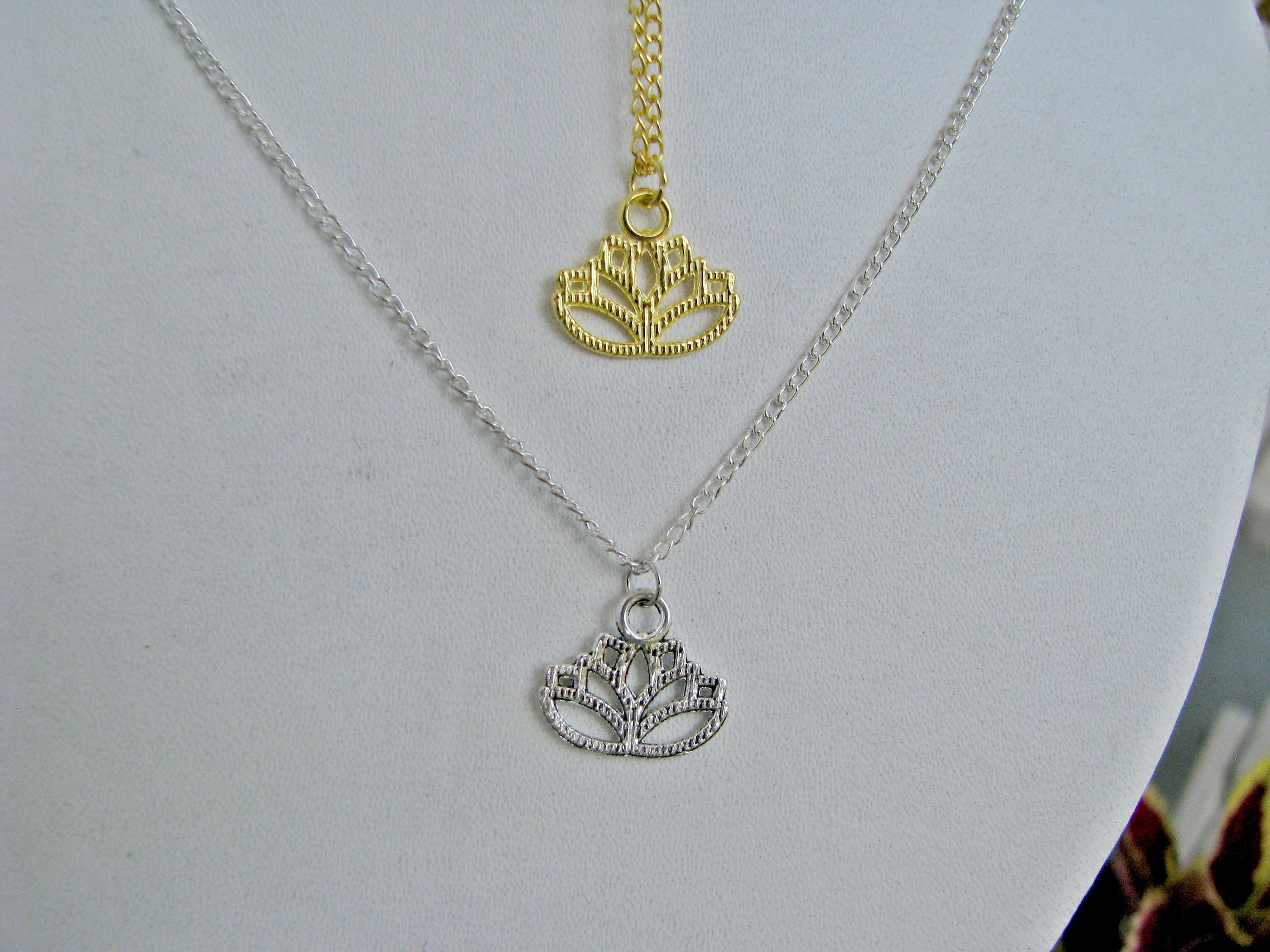 flower delicatenecklaces lights delicate northern gold silver necklaces necklace sterling lotus