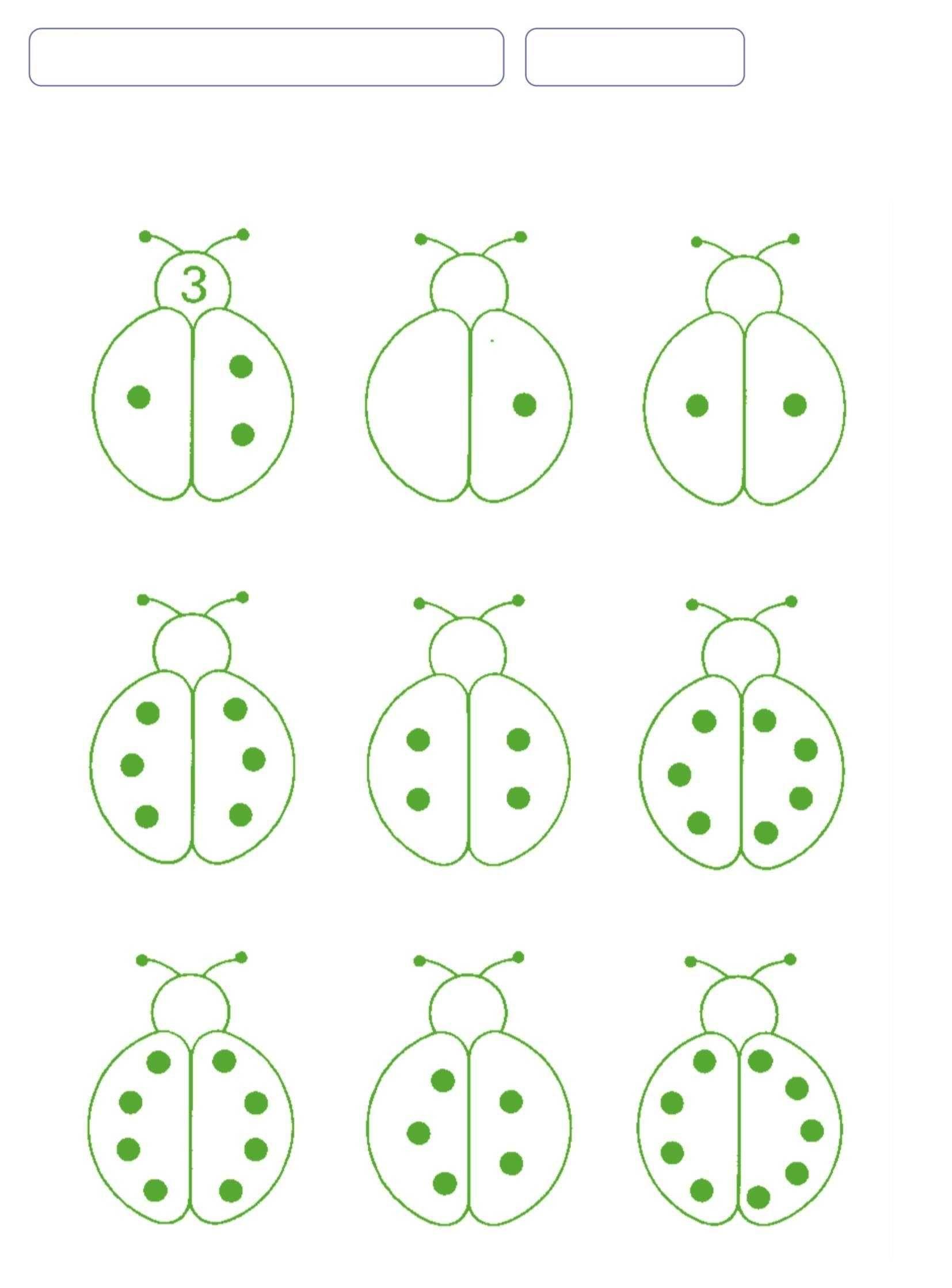 Ladybug Number Counting And Writing Worksheet