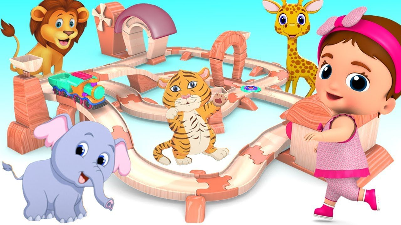 Learn Animals Names for Children with Little Baby Wooden