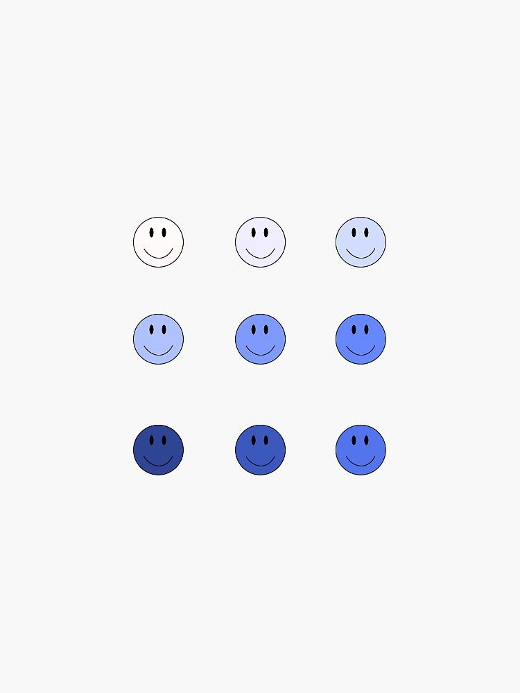 Smiley Face Pack Blue Sticker