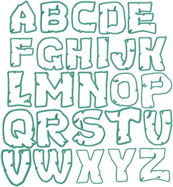 Well-known Teenage Mutant Ninja Turtles Embroidery Font by HerringtonDesign  YG59