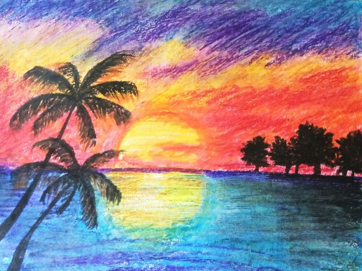 Juniors Drawings Image By Shilpa Dedhia Drawing Sunset Sunrise